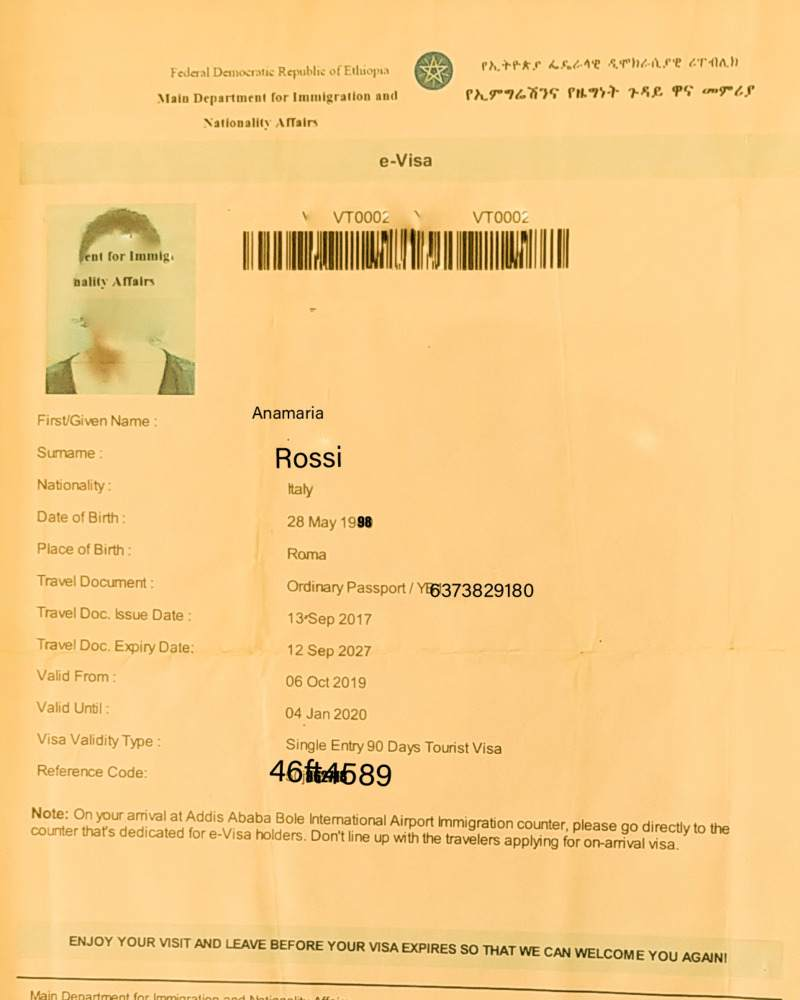 Ethiopian Visa How To Apply And Visa Cost My Ethiopa